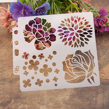 4 Kinds of Flowers Sticker Painting Stencils for Diy Scrapbooking Stamps Home Decor Paper Card Template Decoration Album Crafts cup coffee flower sticker painting stencils for diy scrapbooking stamps home decor paper card template decoration album crafts