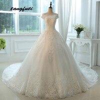 Lace Wedding Dresses Ball Gown Long Crystal Beaded Wedding Gowns Weding Bridal Bride Dresses Weddingdress vestidos de novia