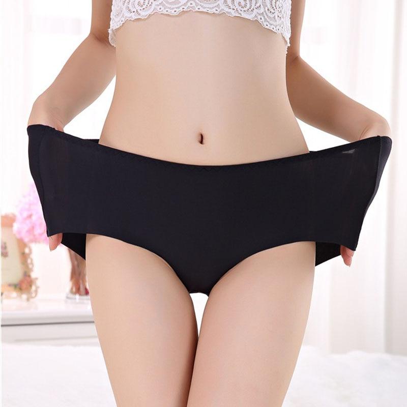 Women's Briefs Stretching Boyshort Plus Size XXXL High Waist Underwear Women Sexy Ultra-thin Panties Seamless Pants Fashion NEW
