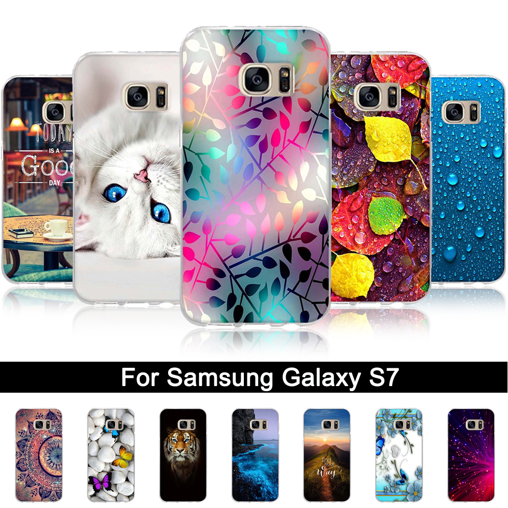 Cover For Samsung Galaxy S7 G930F G930 Case Silicone Back Phone Case for Samsung Galaxy S 7 5.1 inch Cover Soft TPU Shells Coque image