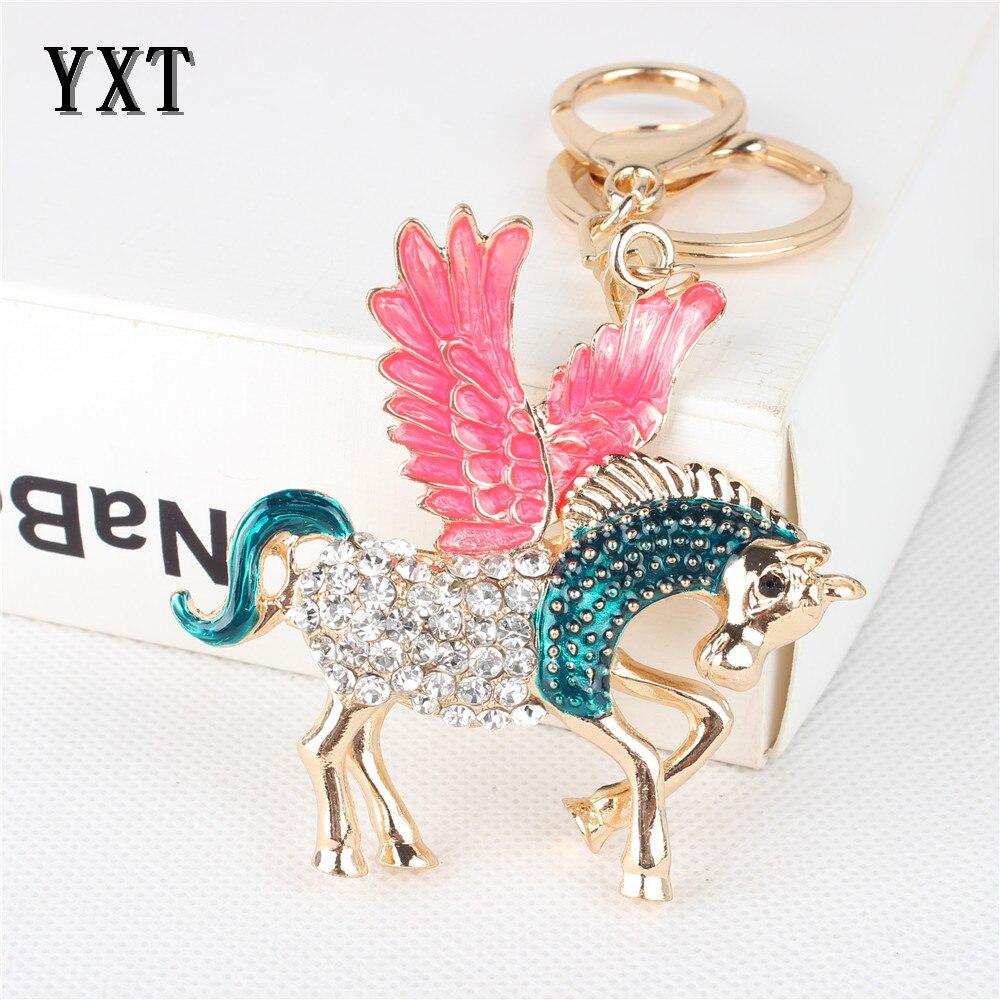 Silicone Keychain Key Chain Ring Flamingo Cartoon Gifts Creative Accessories 1PC