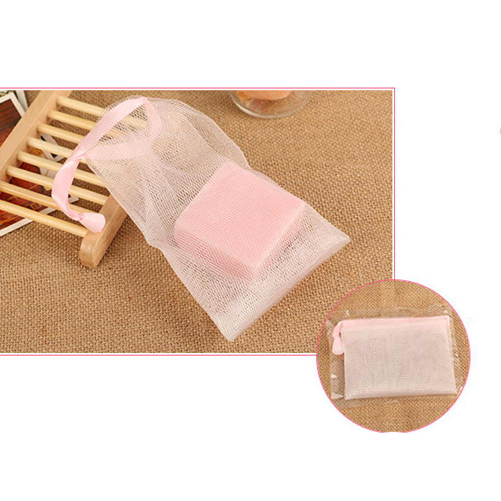 Liquid Soap Dispensers 10pcs Soap Sack Saver Pouch Drawstring Holder Bags For Making Bubbles Bathroom Hardware