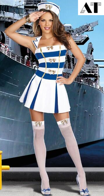 White Sexy Sailor Costume Fancy Dress Nautical Marine Sailor Costumes Navy Dress For Women