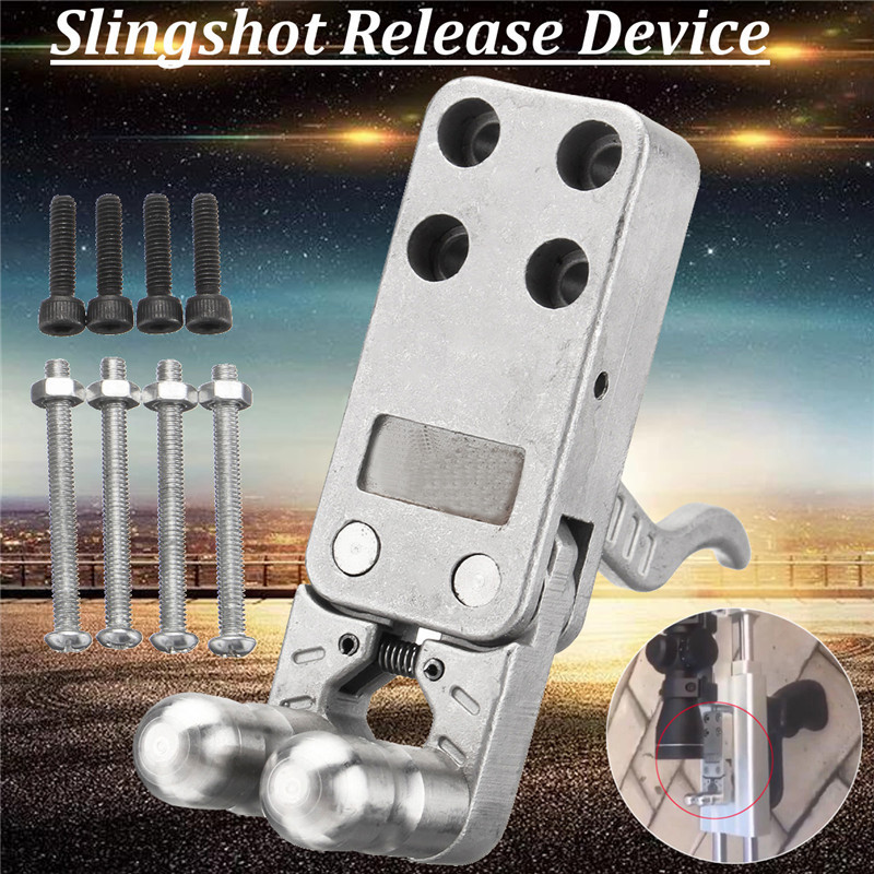 Silver Stainless Steel Slingshot Release Device With Screws DIY Catapult Rifle Trigger Durable Wristband Shot Bow Accessories