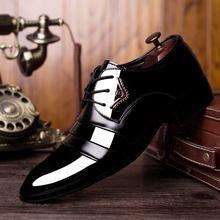 126e523ba الكلاسيكية الرجال اللباس أحذية جلدية قمة الجناح منحوتة الايطالية الرسمي  أكسفورد زائد حجم بو الجلود حذاء رسمي مكتب الفاخرة أحذية .