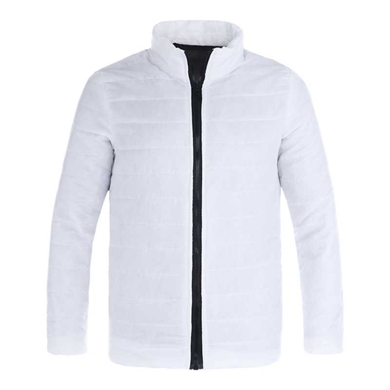 CALOFE ジッパーランニングコート厚く暖かいスリム 2018 秋男性ハイキングジャケットスタンド襟冬の男性ハイキングジャケットスタンド襟