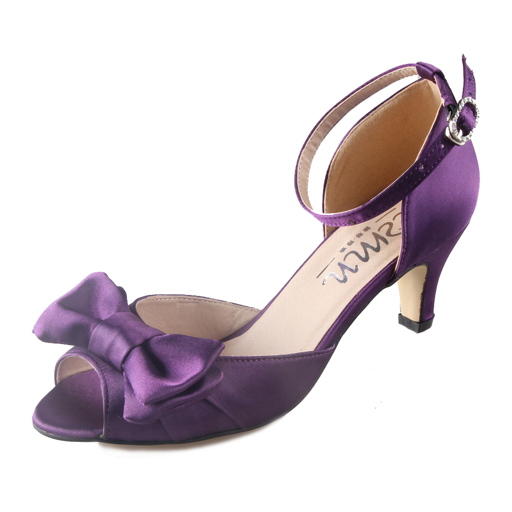 Popular Wedding Shoes Purple Low Heel-Buy Cheap Wedding Shoes ...