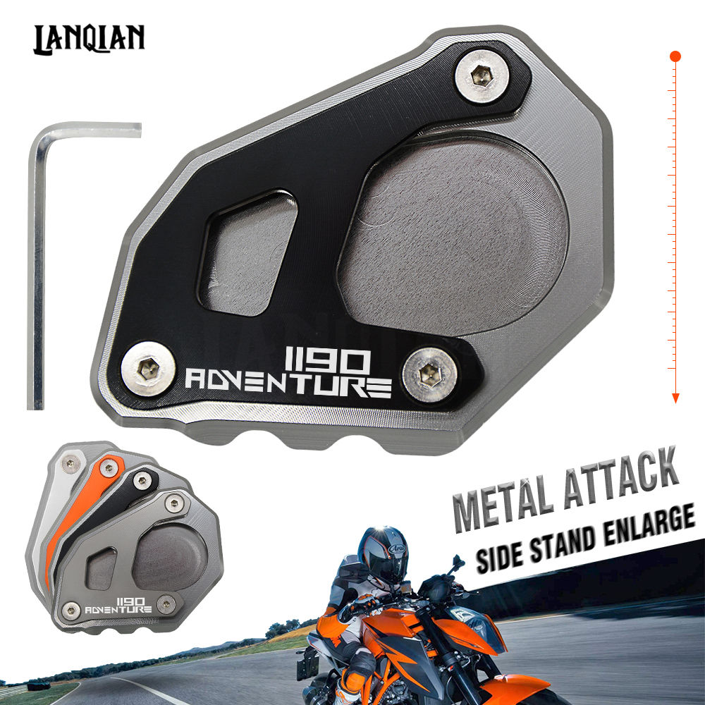 Черный для 1190 ADV мотоциклов подставку подножка сбоку плиты Pad увеличить расширение для KTM Adventure 1190 2013-2018 с логотип