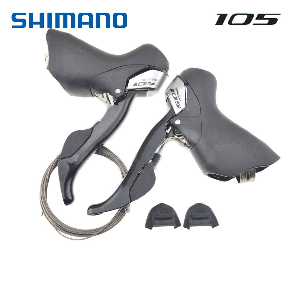 シマノ道路 105 STI ST 5700 シフター 2 × 10 スピード左/右/ペアシフターオリジナルケーブル  グループ上の スポーツ & エンターテイメント からの 自転車変速装置 の中 1