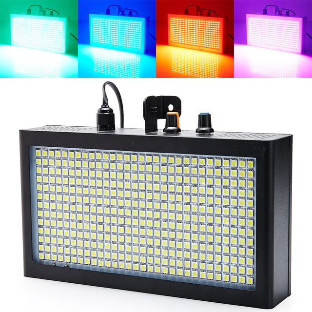 Mini Sound Control 390RGB SMD5050 LED Disco Party DJ Par Home Light Music Show Strobe Projector Stage Lighting Effect