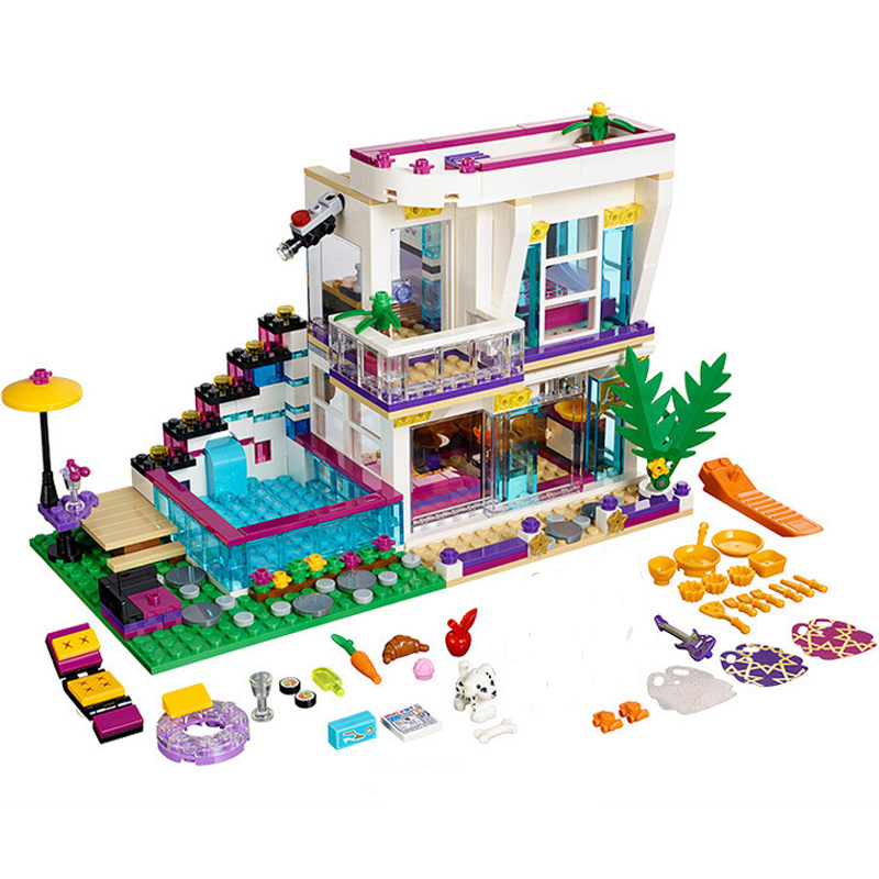 Lepin 01046 LegoINGly Friends Pop Star Livi House Building Blocks Toy For Children Girls Best gift 41135 Sets