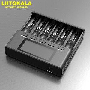 Image 4 - LiitoKala Lii S6 Lii PD4 Lii 500 شاحن بطارية 18650 6 فتحة سيارة قطبية كشف ل 18650 26650 21700 32650 AA AAA بطاريات
