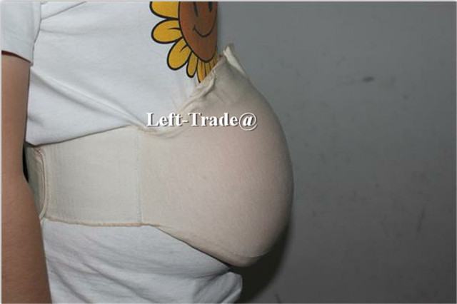 Artificial Baby Tummy Pregnant Bump Silicone Belly Fake Pregnancy 2-4 Month