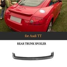 цена на For TT Carbon Fiber Rear Trunk Spoiler Wing Boot Lip for Audi TT MK1 8N 1998 - 2006 Car Sticker