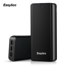 20000mAh Powerbank For Xiaomi,Easyacc 3 ports Quick Charge 2.0 External Battery Micro Type-C Fast Smart Travel Charger