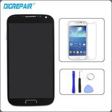 Noir Pour Samsung Galaxy S4 i9505 LCD Affichage à L'écran Tactile Digitizer avec Lunette Cadre Assemblée Complet + Verre Trempé + outils