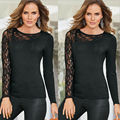 Women Long Sleeve Loose Cardigan Knit Blouse Jumper Knitwear Outwear Lace Shirts Top