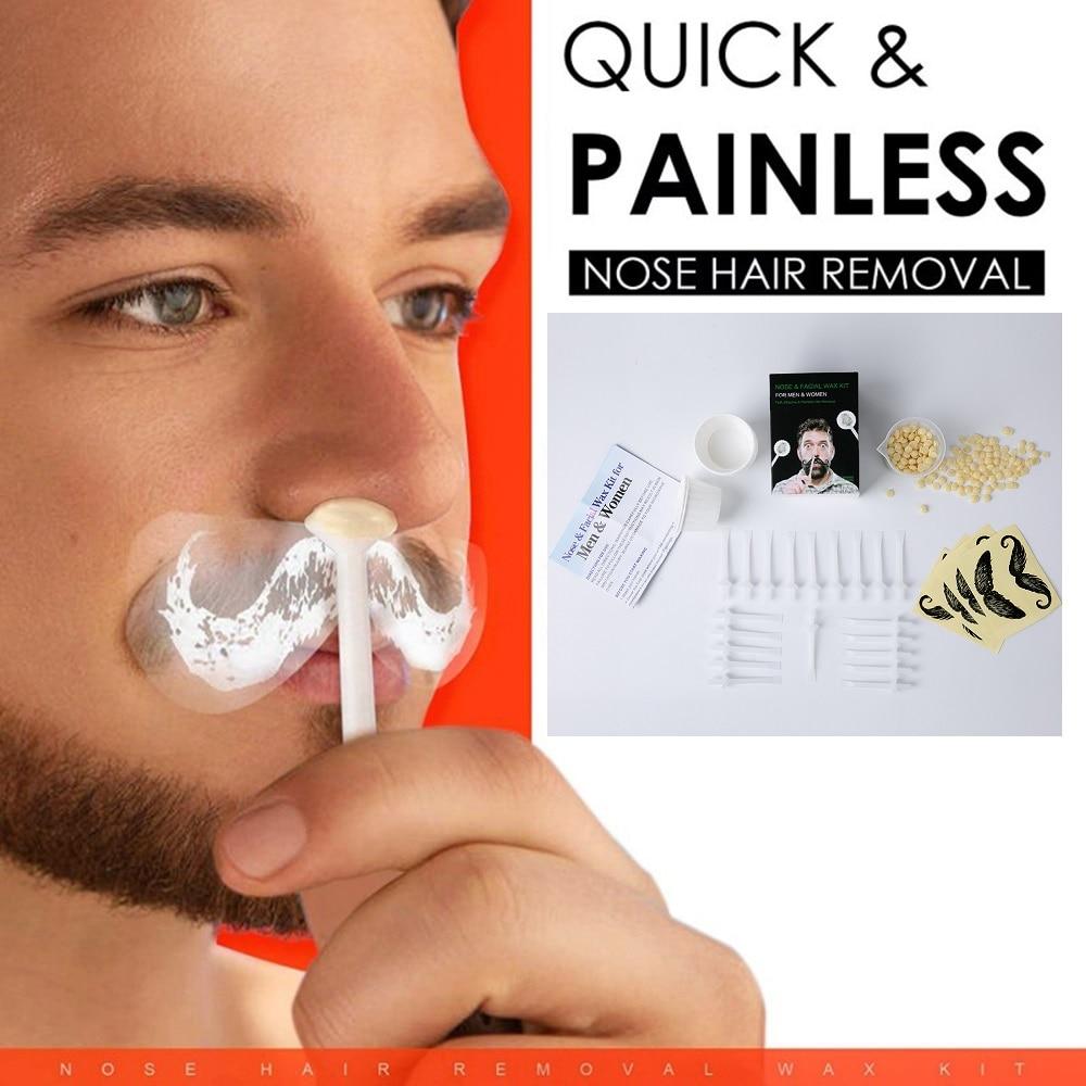 Drop Ship 2 Minutes Painless Men Women Nose Wax Kit Facial Hair Removal Set Eyebrows Nose Lips Depilation Epilator Kit Tslm2 Hair Removal Cream Aliexpress