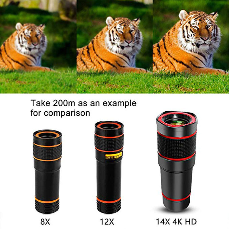 Image 5 - Mobile Phone Camera Lens 14X Zoom 4K HD Telephoto Phone Lens Monocular Telescope Camera With Universal Clip for All Smartphone-in Monocular/Binoculars from Sports & Entertainment