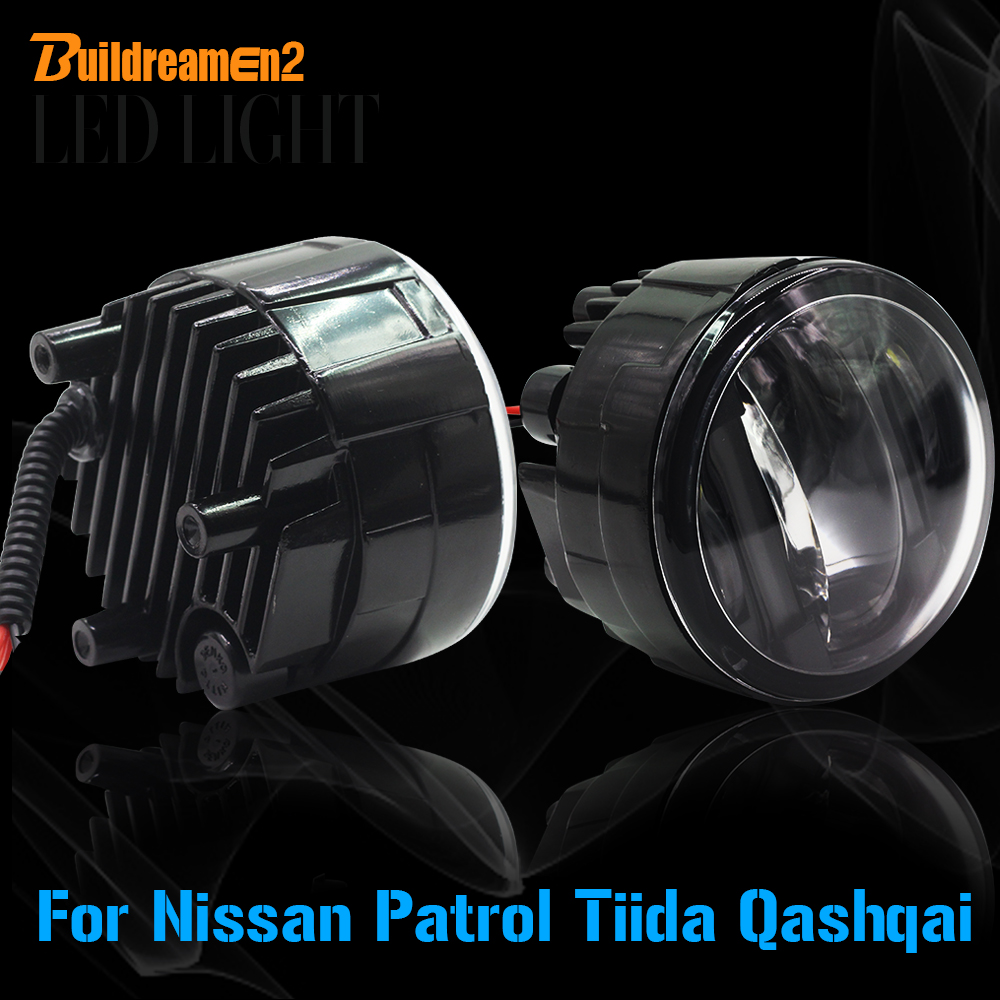 Buildreamen2 2 Pieces Car LED Fog Light Daytime Running Lamp DRL Styling High Power For Nissan Qashqai Patrol Tiida wi fi xdsl точка доступа tp link archer vr400 archer vr400