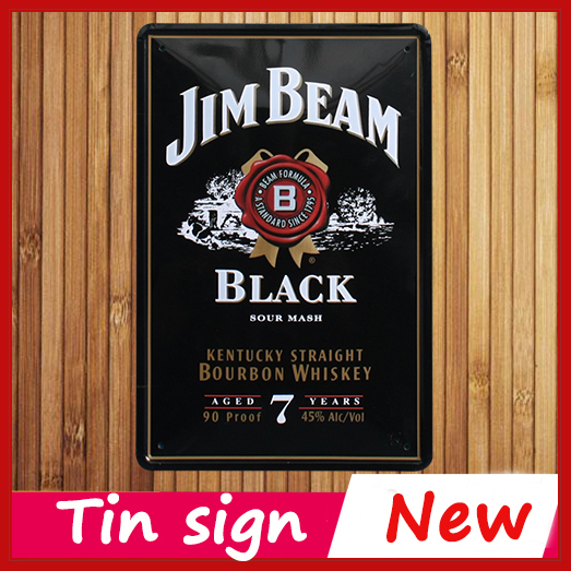 hot chic home bar black j beam vintage metal signs home decor vintage tin signs