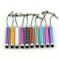 10Pcs/Lot Retractable Bling Touch Screen Stylus Pen For iPhoneiPad TabletPC Cellphone Free Shipping