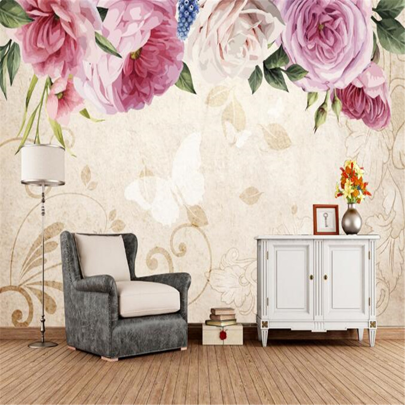 Chinese Style Wallpaper 3D Stereoscopic Flower Photo Wall Mural Nordic Wallpapers Wall Papers for Living Room Home Decor TV Wall fashion circle flowers birds large mural wallpaper living room bedroom wallpaper painting tv backdrop 3d wallpapers for wall