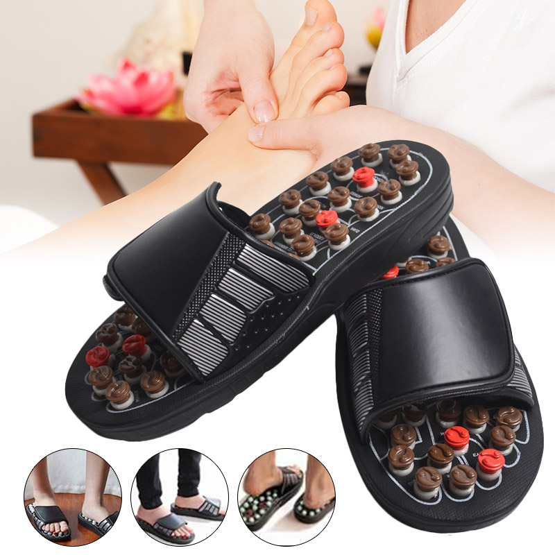 2019 Hot Sale Fashion Acu-Point Slippers Accupressure Massage Foot Massager Flip Flop Sandals For Women Men MSJ99