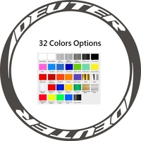 Road Bike Wheel Stickers Set for STONE Deute 50 Carbon Wheel, Water Proof Refelctive Fluorescent Cycling Bicycle Decals
