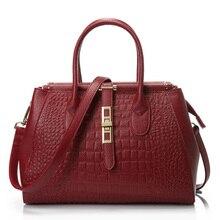 European and American Style  genuine leather women handbag Crocodile Grain Embossed  shoulder bag