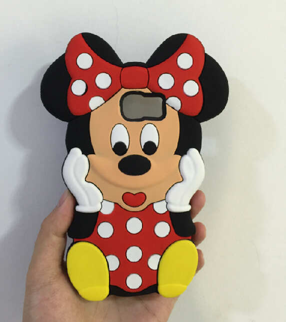 3D Red Bow Cartoon Minnie Mouse Silicone Back Cover Case Samsung Galaxy S6 Edge G9250 - ALEX ZHOU Store store