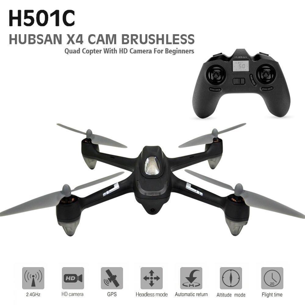 Hubsan X4 Drone Dron Brushless GPS RC Quadcopter con 1080 p HD Macchina Fotografica Senza Testa Modalità di Droni Una Chiave di Ritorno Automatico elicottero