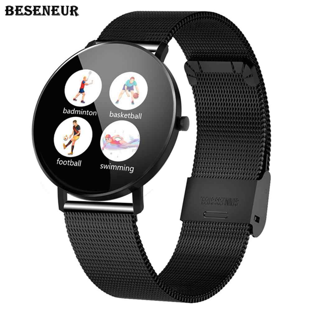 Beseneur F25 Bluetooth Smart Watch Men Heart Rate Blood Pressure Monitor IP67 Waterproof Smart Bracelet Android IOS