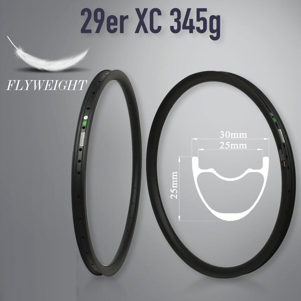 Arrival New Carb Mtb Bicycle Rim Rim 29inch Mtb Hookless نامتقارن 24/27/30/35/40 / 50mm عرض 29mm Ems عمق حمل و نقل رایگان