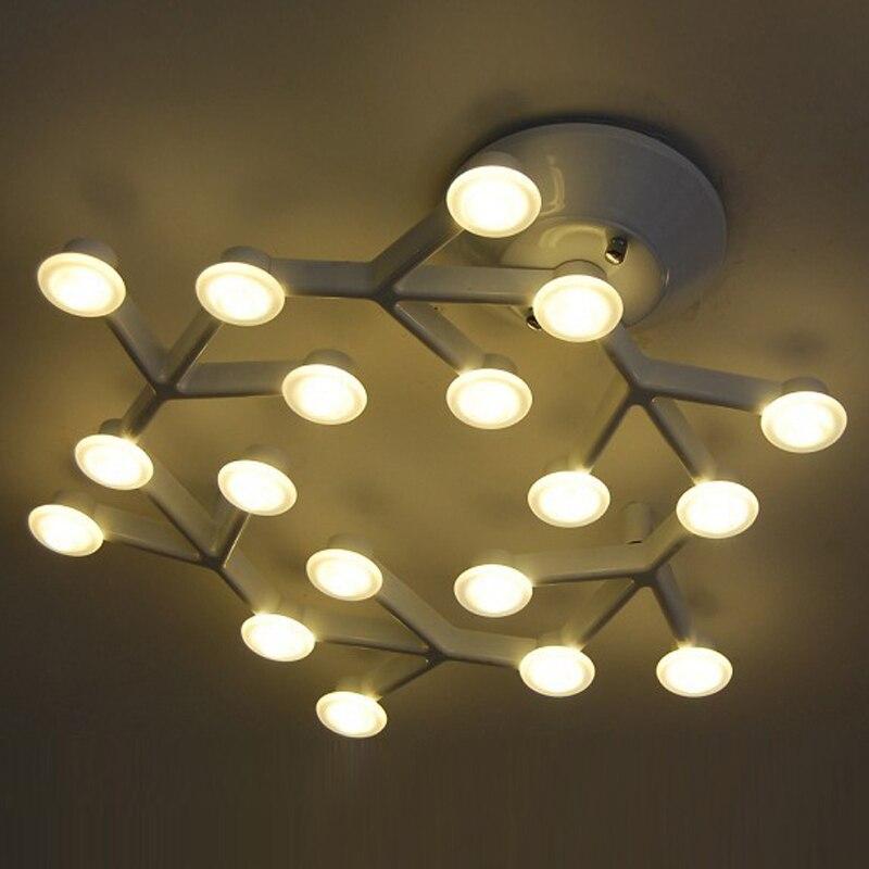 Постсовременный креативный промышленный PMMA белый Железный натянутый светодиодный потолочный светильник кластеры звезд для гостиной