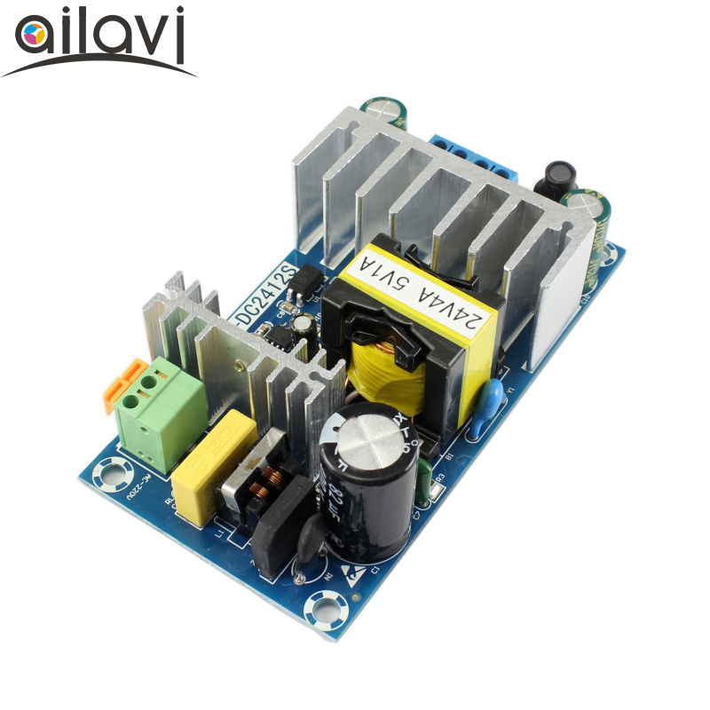 AC-DC Switching Power Supply Module AC110 V 220V To DC24V4A 5V1A High Power Dual Output Power Supply Board 120W switching power supply module ac 85 264v or dc 110 370v to dc12v1a 5v1a dual output buck voltage regulator adapter driver