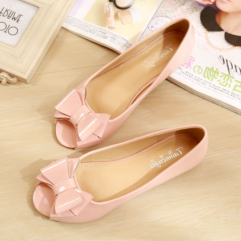 Women Flats New Style Pointed Toe Patent Leather Summer Shoe Woman Causal Walking Shoes 2019 Nurse Working Shoes Summer YX0036 in Women 39 s Flats from Shoes