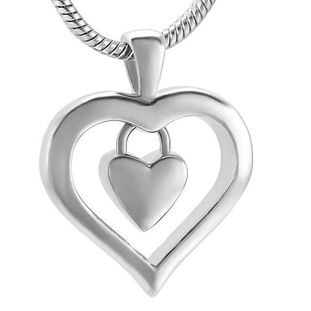 Memorial jewelry love infinity double heart pendant cremation memorial jewelry love infinity double heart pendant cremation jewelry for mom daughter sister initial necklace urn aloadofball Image collections