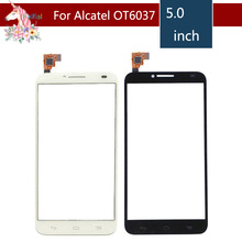 10pcs/lot For Alcatel One Touch Idol 2 6037 OT6037 6037Y 6037K Touch Screen Digitizer Sensor Outer Glass Lens Panel Replacement m8 mini sensor replacement parts for htc one mini 2 outer touch screen digitizer panel with tracking number