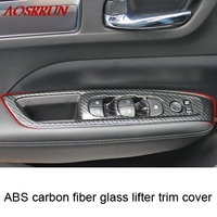 4pcs Car Styling ABS Carbon Fiber Internal Door Window Lift Switch Panel Car Covers For Renault
