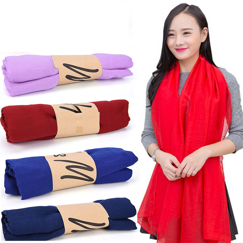 Trendy Stole Shawl New Fashion Lady Women Long Candy Colors Soft Cotton   Scarf     Wrap   Shawl   Scarves   Gift