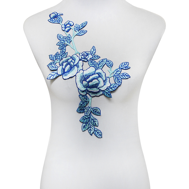 Aliexpress.com: Comprar 10 pieza de Tela de Encaje Azul Parches ...