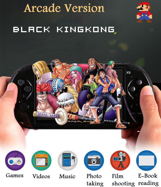 US $62 48 29% OFF|X9 handheld game console gift built in game support to  download classic games free shipping -in Handheld Game Players from  Consumer