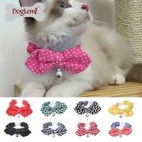 Designer Adjustable Breakaway Kitten Cat Collar With Bowtie Reflective Bell