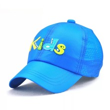 quick-drying letter patchwork baseball cap kid