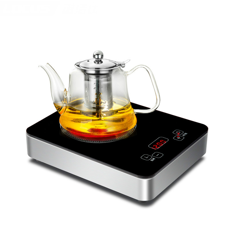 Hot Plates Electric ceramic furnace tea stove small iron pot boiling water mini - boiled cooker raising home electric pottery furnace tea pot 4 file mute mini knob control tea hot water boiler black microlite panel stove boiling machine