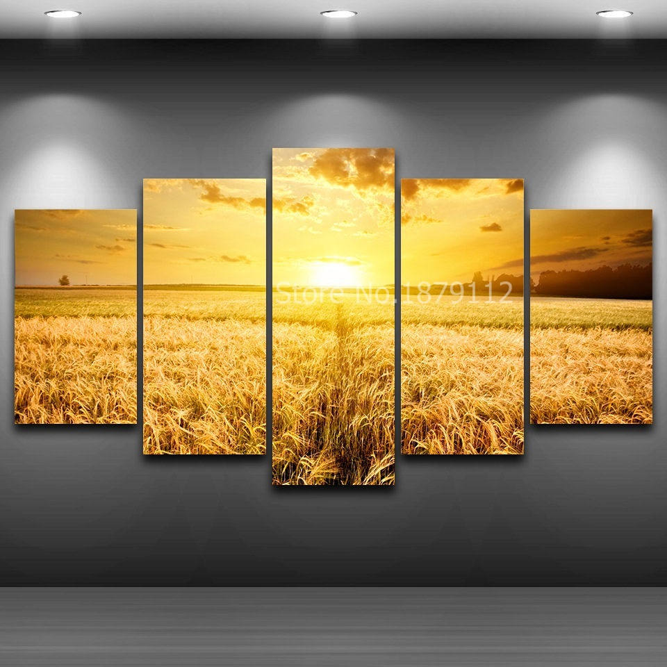 Special Offer Wheat Field Painting Unframe Frame Hd Picture Artwork ...