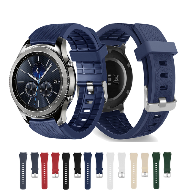 22mm Silicone watch strap for Samsung Gear S3 Frontier/Classic R760/R770 band me