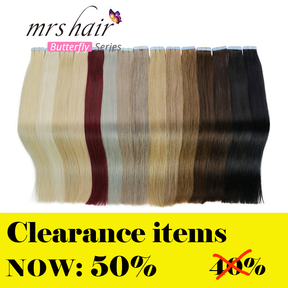 MRS HAIR Tape In Human Hair Extensions  14