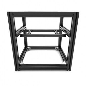 High Quality One Set Black 3D Printer Hypercube Evolution Frame Kit- 300mm Cube Build Volume 3D Printer Frame Kit